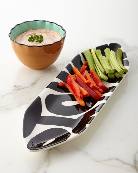 Loop de Loo Pointy Platter & Ruffle Bowl Serving Set