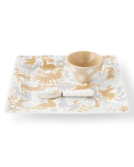 Otomi Square Platter, Spreader & Bowl Set