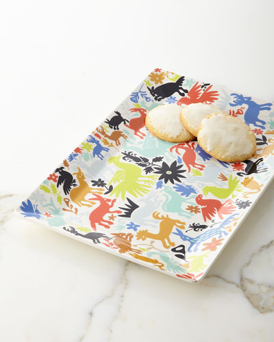 Otomi Rectangle Retro Tray