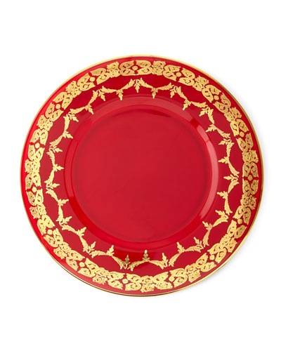 Red Oro Bello Charger  Set of 4