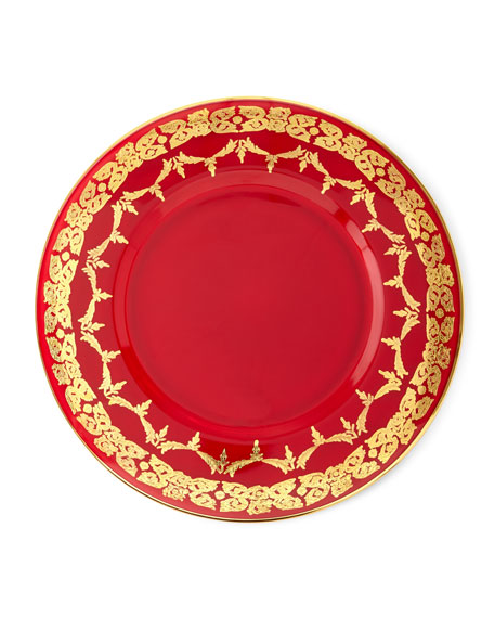 Neiman Marcus Red Oro Bello Charger, Set of