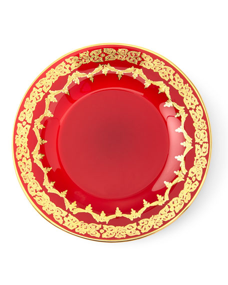 Red Oro Bello Dessert Plate Set of 4  sc 1 st  Horchow & Gold-Finish Soup Bowl Set of 4 and Matching Items