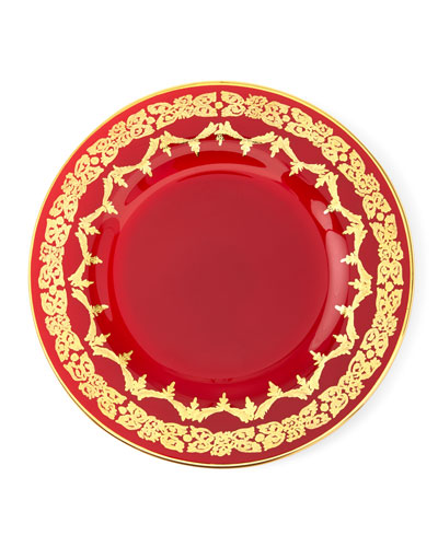 Red Oro Bello Dinner Plate  Set of 4