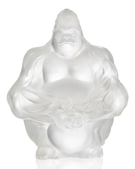 Crystal Gorilla Sculpture/Figurine, Clear