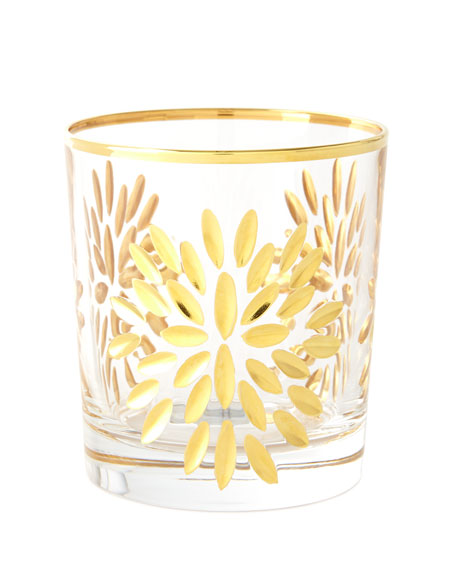 Neiman Marcus Exploded Petals Double Old-Fashioneds, Set of