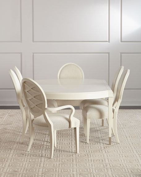 Gabi Lattice-Back Arm Chair