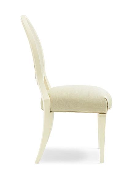 Pair of Gabi Lattice Back Side Chairs
