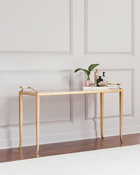 Lally Eglomise Console Table