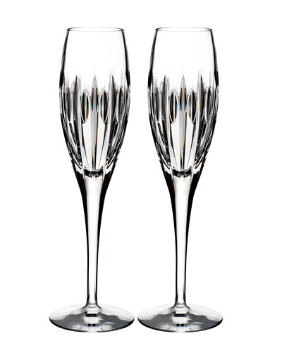 Mara Crystal Champagne Flutes  Set of Two