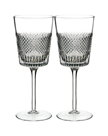 Diamond Line Wine Glasses, Set of Two