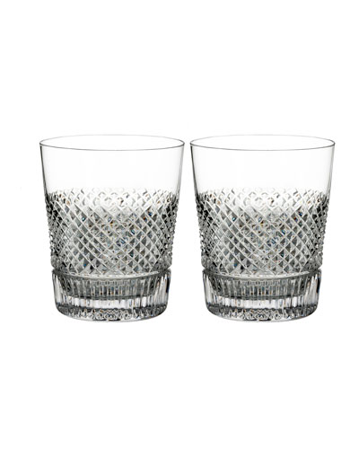 Diamond Line Double Old-Fashioned Glasses  Set of Two
