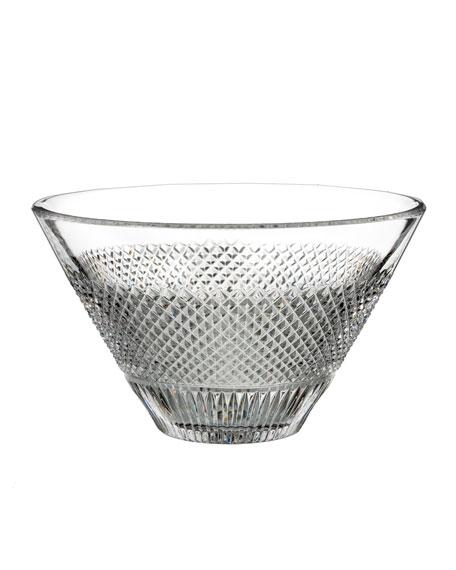 "Diamond Line Crystal Bowl - 8"""