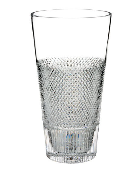 Diamond Line Crystal Vase - 12""