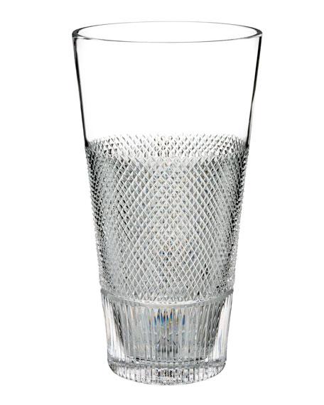 """Diamond Line Crystal Vase - 12"""""""