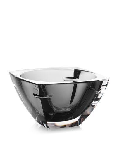W Crystal Bowl, Smoke, 7