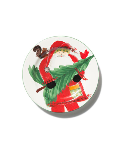Limited Edition Old Saint Nick Salad Plate
