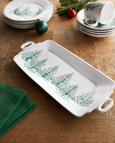 Lastra Holiday Handled Rectangular Platter
