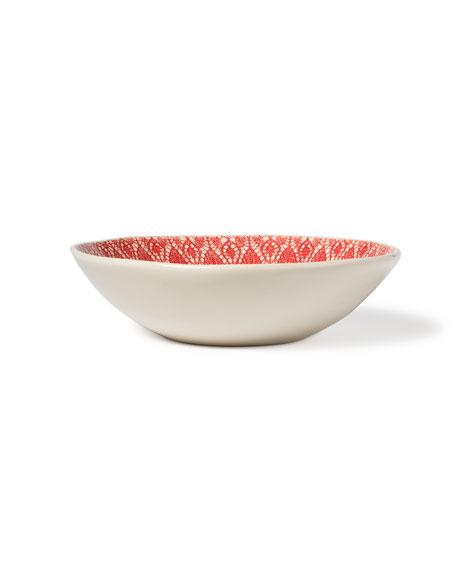 Viva Red Lace Medium Serving Bowl