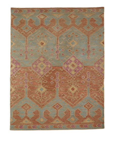 "Gem Hand-Tufted Rug, Spice Teal, 9'3"" x 13'"