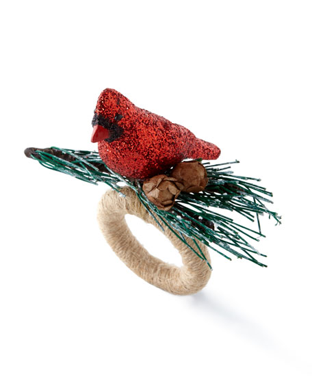 Cardinal Bird Napkin Ring