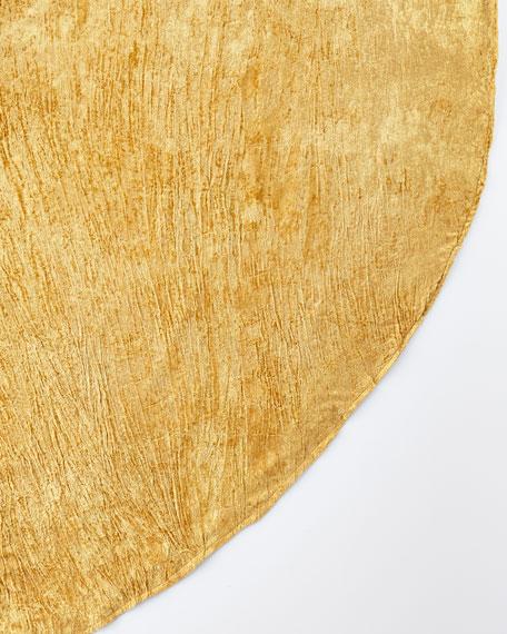 """108"""" Round Crushed Velvet Table Skirt"""