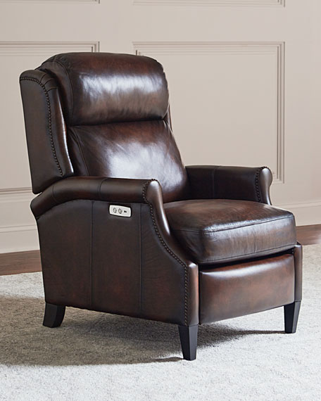 Super Robin Leather Powered Recliner Chair Gmtry Best Dining Table And Chair Ideas Images Gmtryco