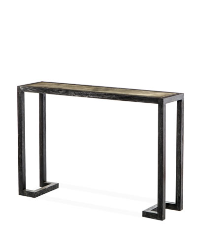 Ilaria Vellum Console Table