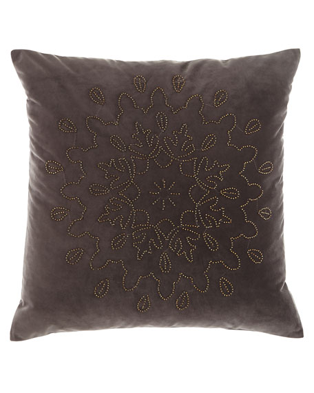 "Gala Beaded Pillow, 20""Sq."