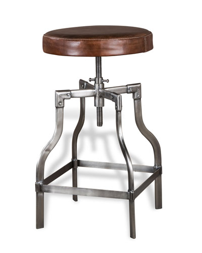 Bryce Leather Counter Stool