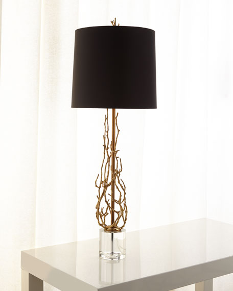 Arteriors Ingrid Brass Twig Table Lamp