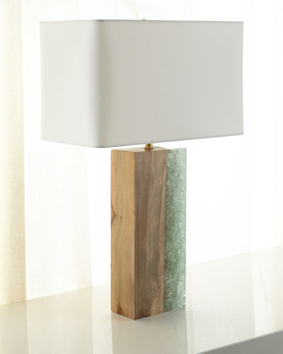 Venus Birch Wood Table Lamp