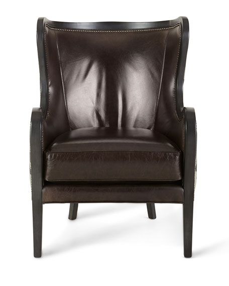 Oliver Zebra Hairhide & Leather Wing Chair