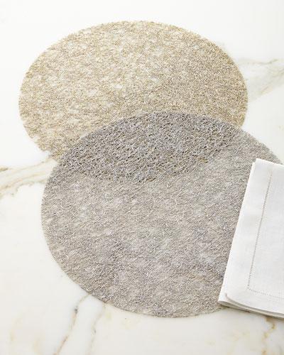 Metallic Lace Table Mat 15.5
