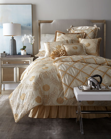 Ruffled Diamond King Duvet Cover