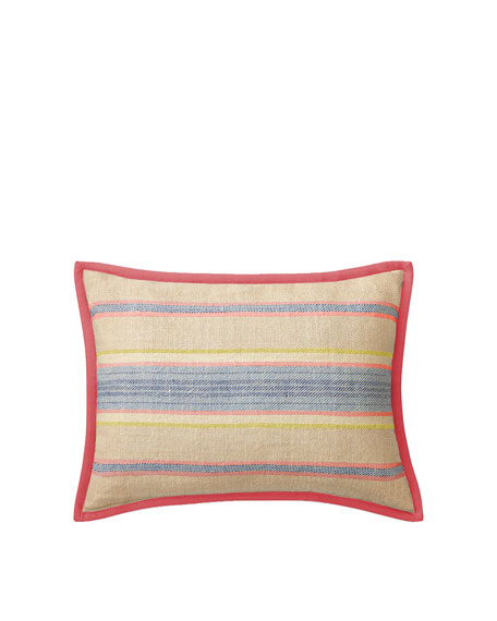 Cayden Ticking-Stripe Decorative Pillow