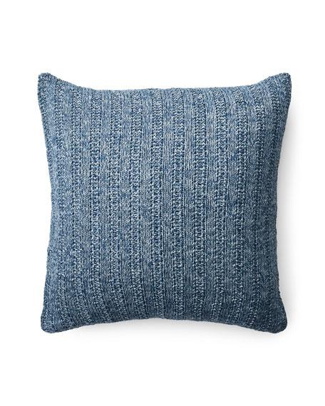 "Graydon Melange Knit Decorative Pillow, 18""Sq."