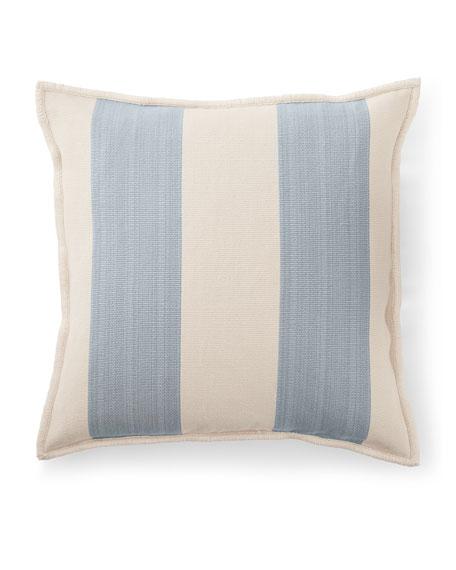 "Graydon Ticking Decorative Pillow, 20""Sq."