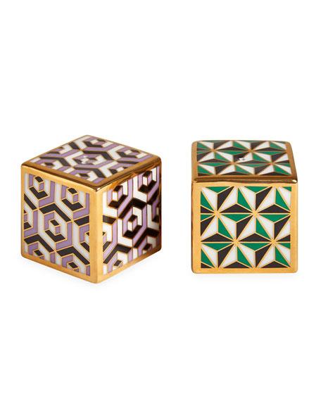 Versailles Salt and Pepper Cube Set