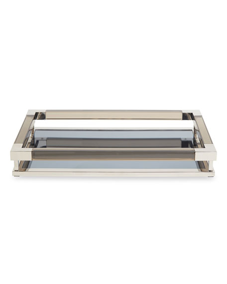 Jacques Small Decorative Tray, Nickel