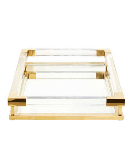 Jacques Small Decorative Tray, Brass