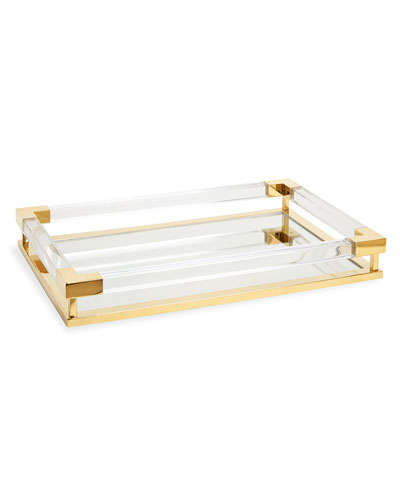 Jacques Small Decorative Tray  Brass