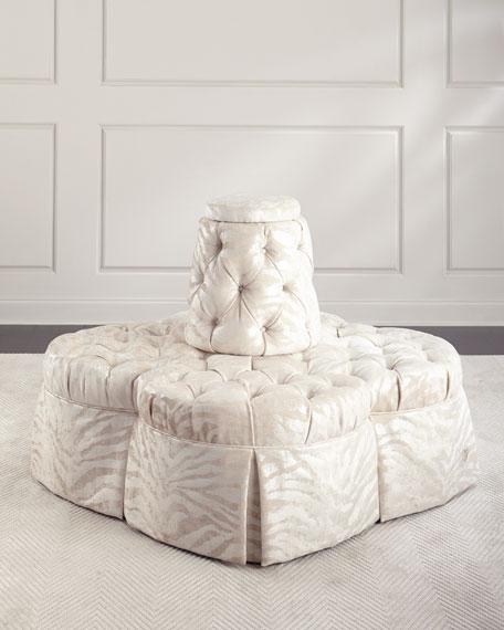 Fleur Island Sofa in Sculpture Sugarcane