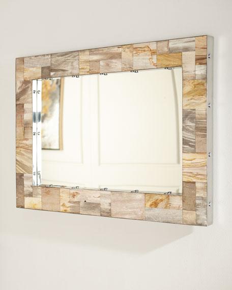 Maxwell Petrified Wood Mirror