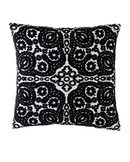 Paseo Cannetille Floral Knit Pattern Pillow