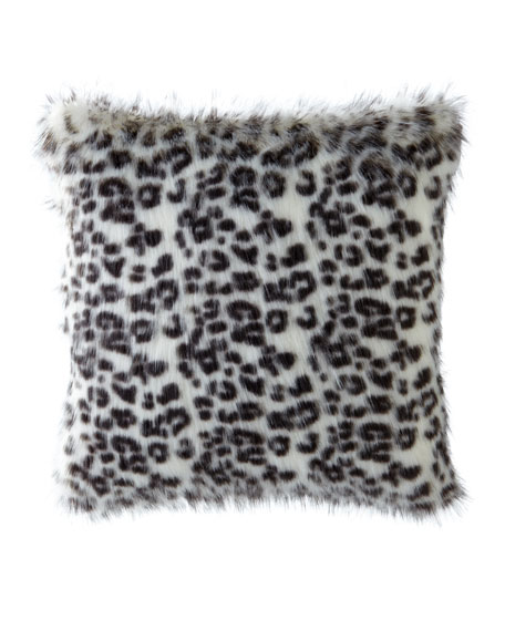 Panther White Pillow, 22