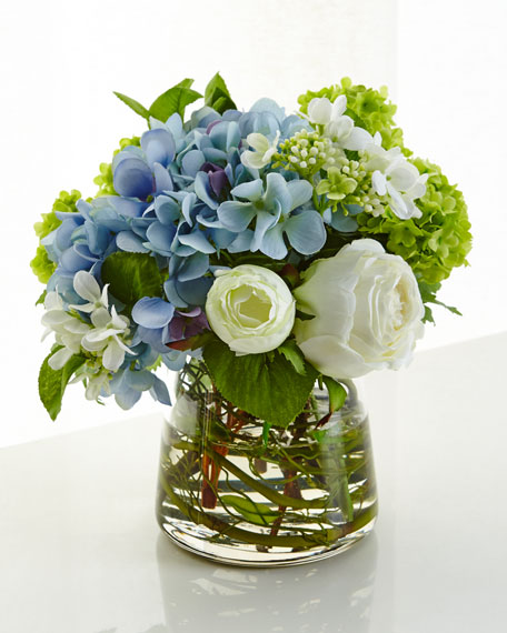 NDI Hydrangea Rose Faux-Floral Arrangement