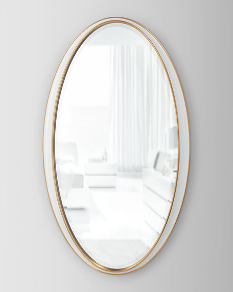 John-Richard Collection Oval Framed Mirror