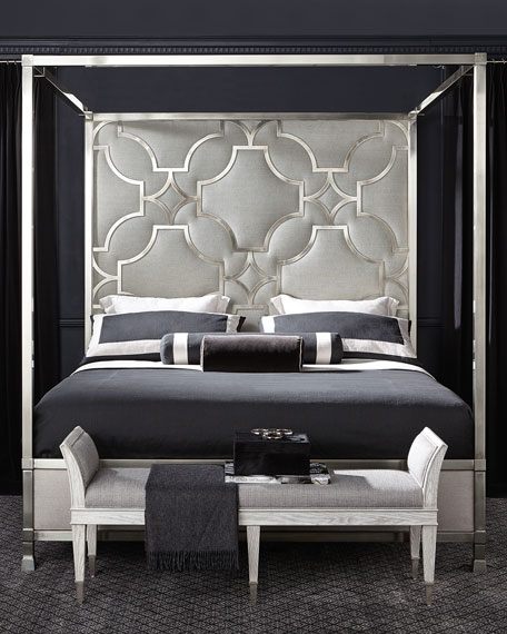 Zoe Stainless King Canopy Bed