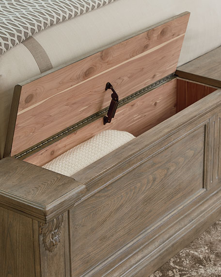 Daphne King Bed with Cedar Storage