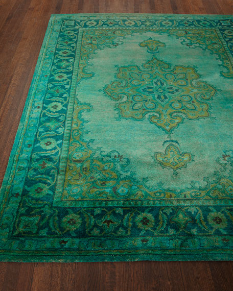 Lotus Hand Tufted Wool Rug 5 X 8